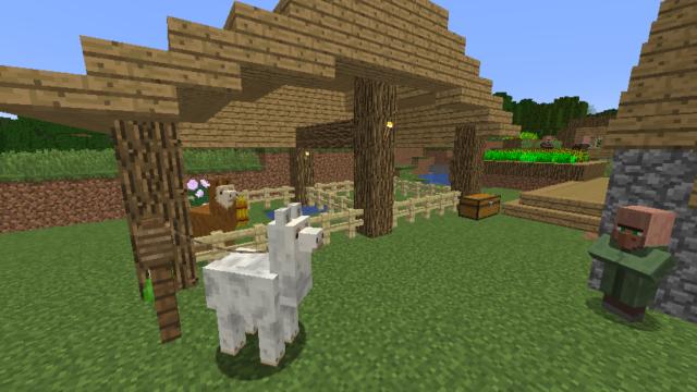 ラマを小屋で飼育する