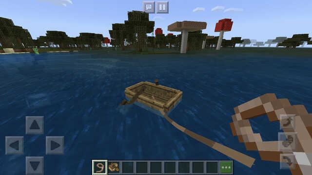 ボートにリードを繋げる